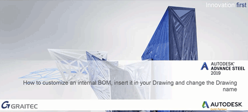 How to customize an INTERNAL BOM insert it in your drawing and change the drawing name