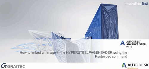 How to imbed an image in the HYPERSTEELPAGEHEADER using Pastespec command Cover