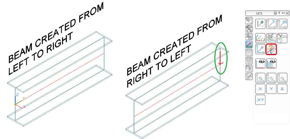 Advance Steel 2018 Beam creation no symbol