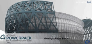 How to add borders around gratings and plates in the Graitec PowerPack for Autodesk Advance Steel